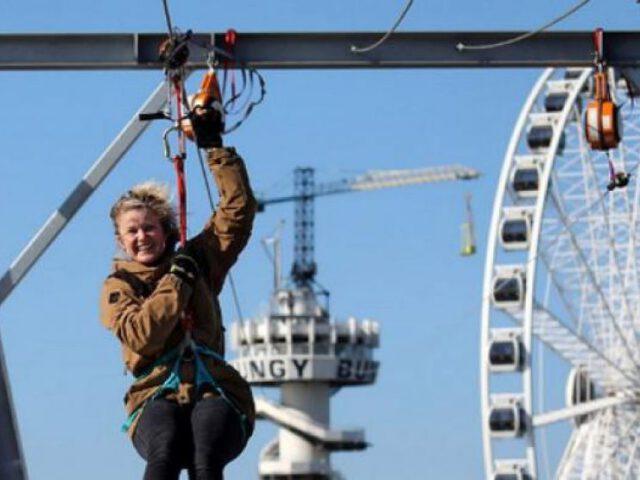 De Zipline op de Pier
